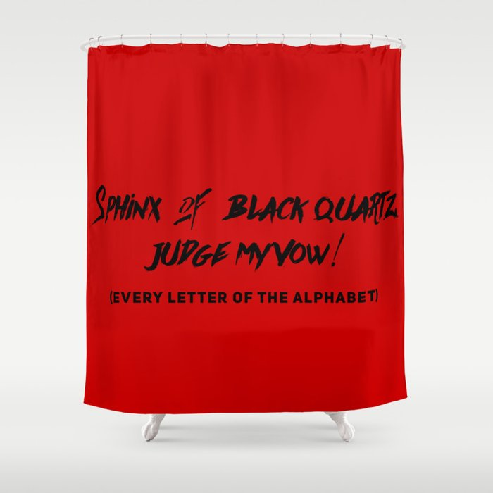 Every Letter of Alphabet Shower Curtain by heresiarch | Society6