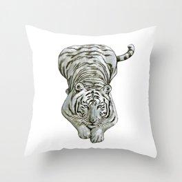Zabu White Tiger Throw Pillow