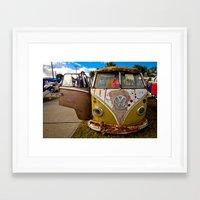 vw bus Framed Art Prints featuring VW BUS BULLETS  by Aaron Joslin Photography