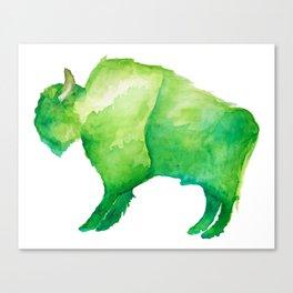 Green Bison Canvas Print