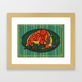 Year of the Ox Framed Art Print