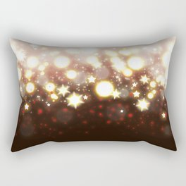 Stars Can't Shine Without Darkness sparkly lights stardust and fireworks art Rectangular Pillow