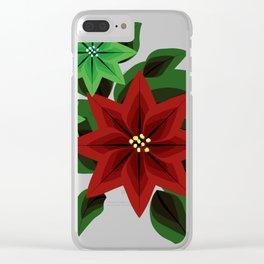 Poinsettia v2 Clear iPhone Case