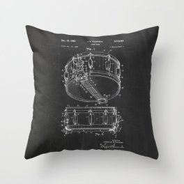 Snare Drum Patent Throw Pillow