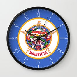 Minnesota State Flag Wall Clock