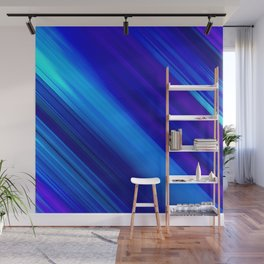 Abstract watercolor colorful lines painting Wall Mural
