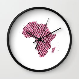 Africa in Pink Wall Clock