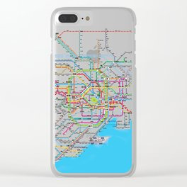 Tokyo Subway map Clear iPhone Case