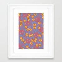 ghibli Framed Art Prints featuring Ghibli Pattern by pkarnold + The Cult Print Shop