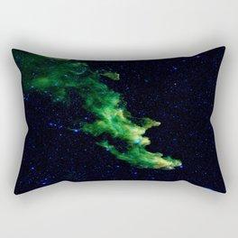 Galaxy: Green Witch's Head Nebula Rectangular Pillow