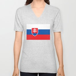 Flag of Slovakia, High Quality Image Unisex V-Neck