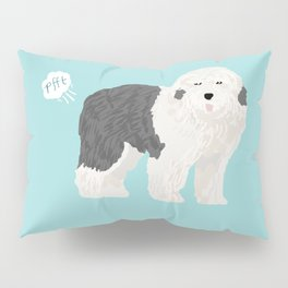 old english sheepdog farting dog cute funny dog gifts pure breed dogs Pillow Sham