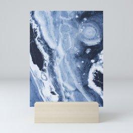 Marble Ice Indigo Mini Art Print