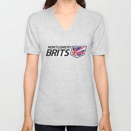 Montgomery Brits Full Logo Unisex V-Neck