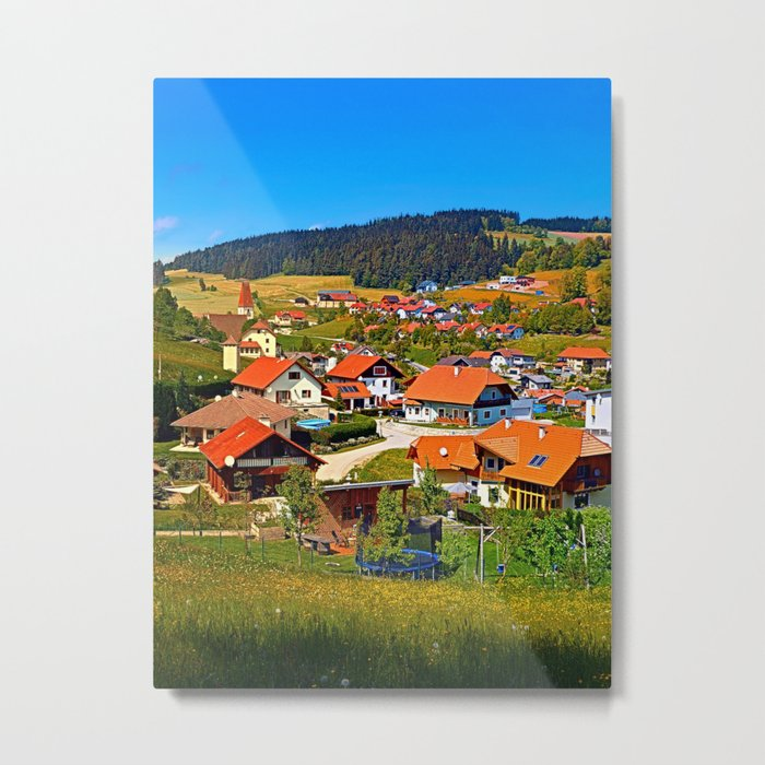 The village and the valley Metal Print