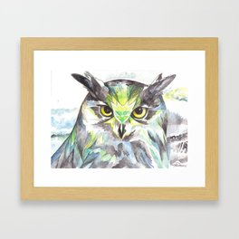 Dreamy Owl Framed Art Print