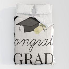Congrats Grad - congratulations for Graduation Comforters