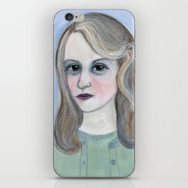 Colossus of Plath, Sylvia Plath Literary Portrait iPhone Skin