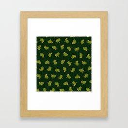 Frog Prince Pattern Framed Art Print