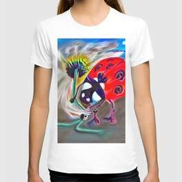 Ladybug&flower T-shirt