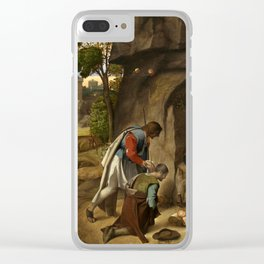 "Giorgione ""The Adoration of the Shepherds"" Clear iPhone Case"
