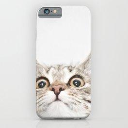 Kitten Portrait #painting iPhone Case