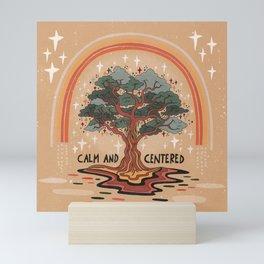 Calm and centered Mini Art Print