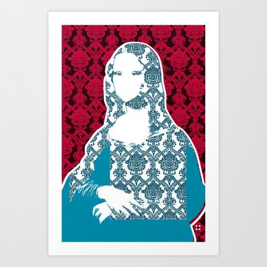 Mona Lisa SW x4 Art Print