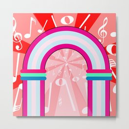Musical Notes Archway Metal Print