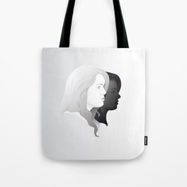 Lydia and Allison in Profile Tote Bag