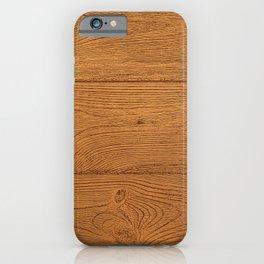 The Cabin Vintage Wood Grain Design iPhone Case