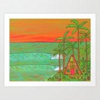 A Frame Dream Home Surf Paradise Art Print