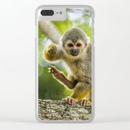 Common Squirrel Monkey Clear iPhone Case