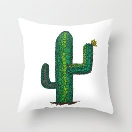 Singing Cactus - I'm a Little Teapot - Abstract Throw Pillow