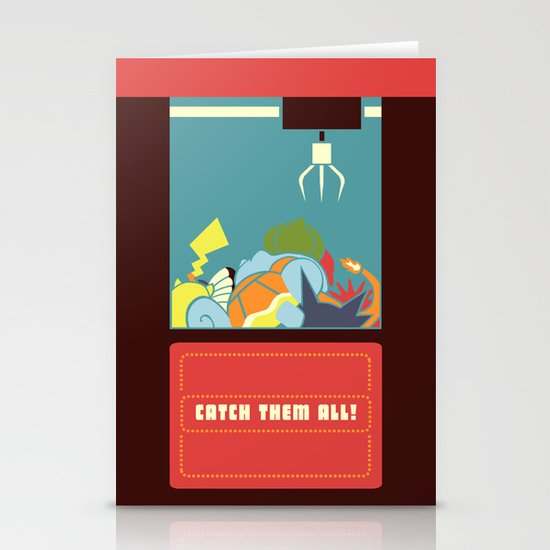 Claw Machine Stationery Cards