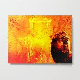 The Lion That Roars Metal Print