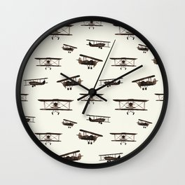 Retro airplanes Wall Clock