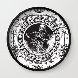 1861 Death Skeleton Black Wall Clock