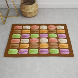 French Macarons, Multi-Colored Pastels Rug