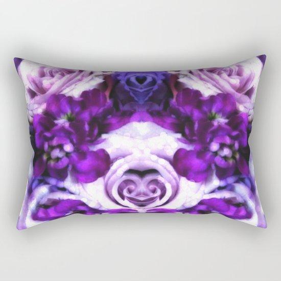 purple pink flowers Rectangular Pillow