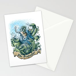 Poseidon for people who like  fantasy legends and mythical creatures  Stationery Cards