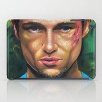 tyler durden iPad Cases featuring FIGHT CLUB - TYLER DURDEN by John McGlynn