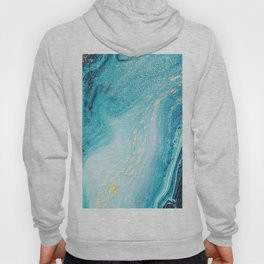 Blue & Gold Paint Swirls Hoody