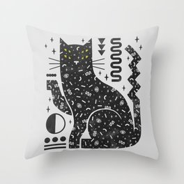 Magic Cat Throw Pillow