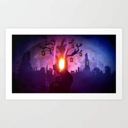 God Gamble Door Tree Art Print