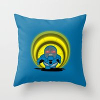 returns Throw Pillows featuring Chubbyseid Returns  by 1982 est. by A.W. Owens
