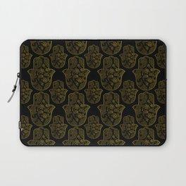 Gold Paisley Hamsa Hand pattern Laptop Sleeve