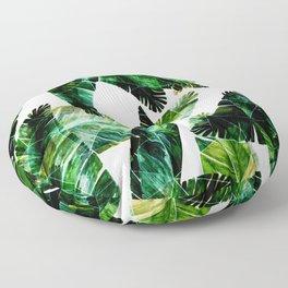 Green leaves of a banana. 2 Floor Pillow