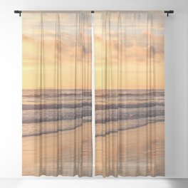 Sunset Stage Right Sheer Curtain