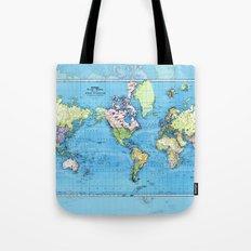 Mercator Map of Ocean Currents Tote Bag